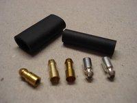 all_parts classic car & motorcycle 4 7mm lucas brass crimp & solder bullets