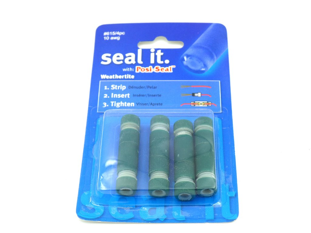 PL615 Posi-Seal Green Weatherproof Wiring Loom Connectors 4 Pack