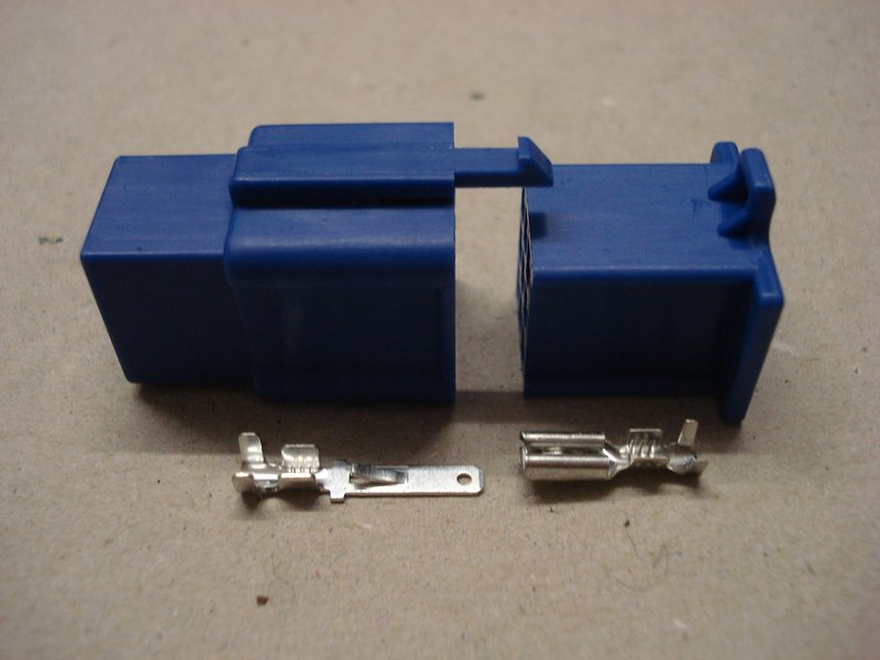 2.8mm 9 Way Blue Mini Latch Motorcycle Connector