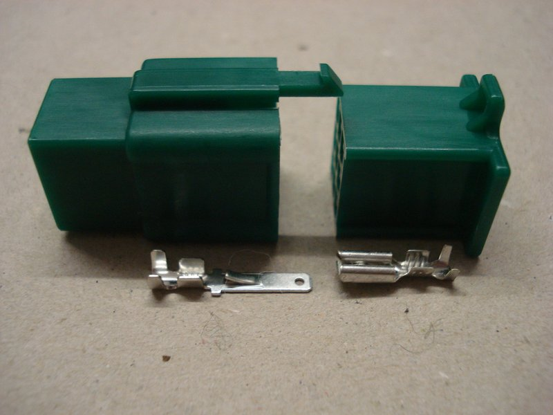 2.8mm 9 Way Green Mini Latch Motorcycle Connector