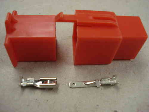 2.8mm 9 Way Red Mini Latch Motorcycle Connector