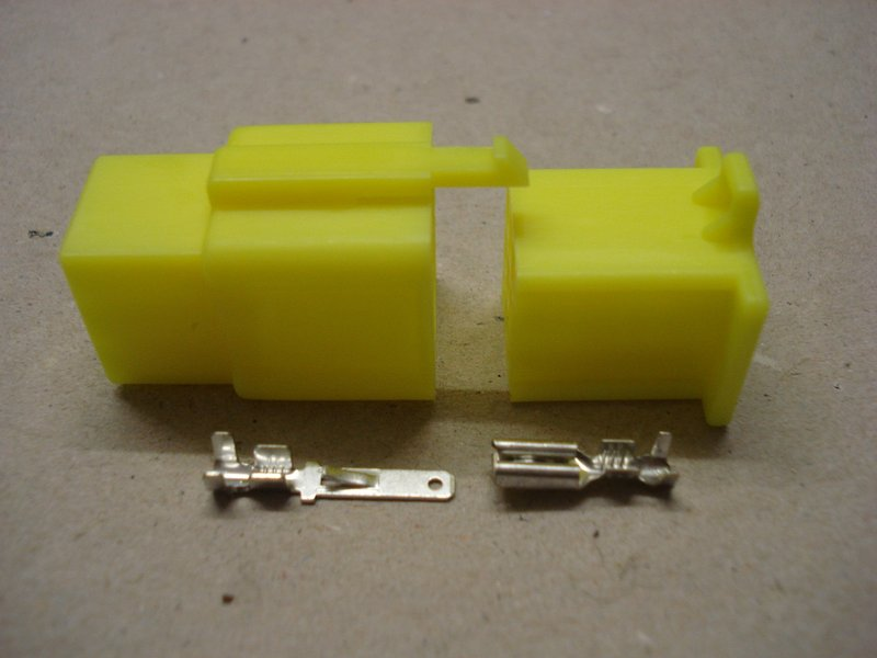 2.8mm 9 Way Yellow Mini Latch Motorcycle Connector