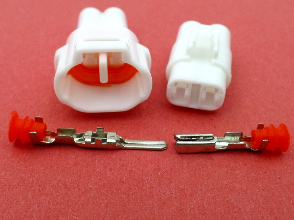 2 Way Mt No Slot Sealed White Motorcycle Loom Connector
