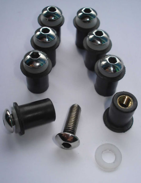M5 Well Nuts with S/S Bolts and Washers