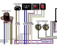 norton colour motorcycle electrcial wiring loom diagrams norton colour wiring diagrams
