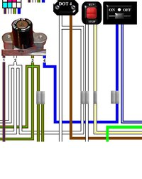 triumph motorcycle colour electrical wiring diagrams