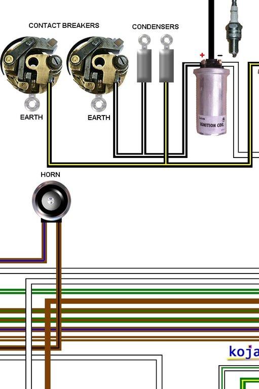 bsa a50  u0026 a65 1968 colour electrical wiring diagram