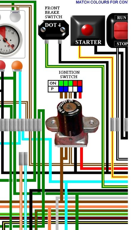 Honda Cb F Cb Four Colour Wiring Loom Diagram on 1984 Bmw Wiring Diagram