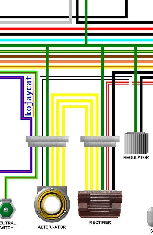 honda cb750k0 k3 usa 1969 1972 colour wiring diagram honda cb 175 wiring diagram wiring