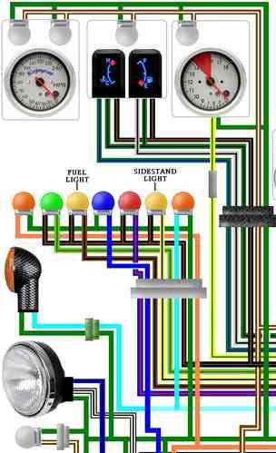 st pan european colour motorcycle wiring loom diagrams honda st1100 pan european 1996 01 usa colour wiring diagram