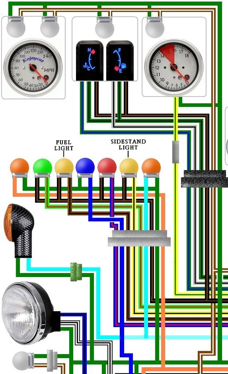 Honda St Pan European Colour Wiring Loom Diagram on Honda 50 Wiring Diagram