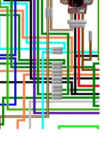 honda cb450 cl450 cb500 colour electrical wiring loom diagram honda cb500 4 cb500 four uk spec colour wiring diagram