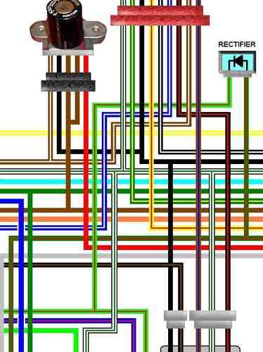 honda cbx550f cbx750f a3 laminated colour wiring loom diagram