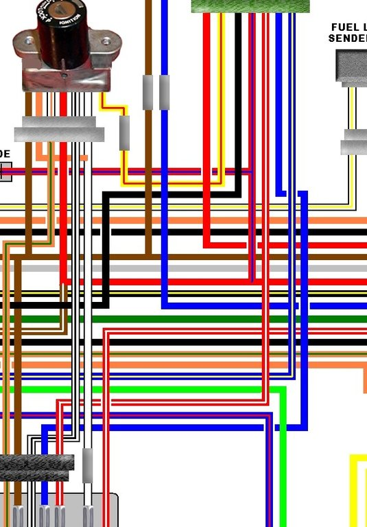 kawasaki z1000 j1 j2 uk spec colour wiring loom diagram kawasaki z1000 j1 j2 uk spec colour wiring diagram