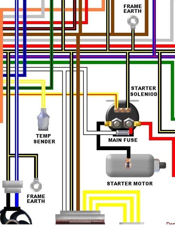 kawasaki zzr600 e1 e2 uk spec colour electrical wiring diagram kawasaki zzr600 e1 e2 uk spec colour wiring diagram