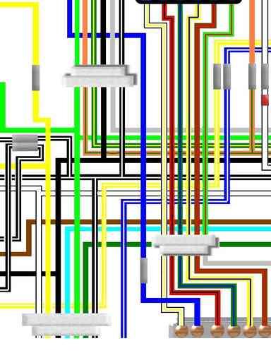 Suzuki GS Large Colour Wiring Circuit Loom Diagrams - Euro motorcycle wiring diagram