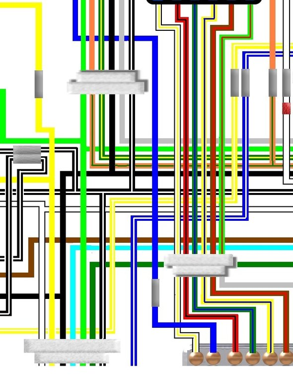 suzuki gs550e 1980 uk euro spec colour wiring loom diagram