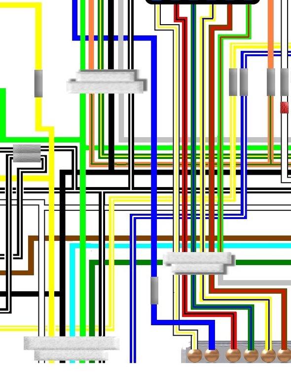 suzuki gs550l 1980 uk / euro spec colour wiring diagram