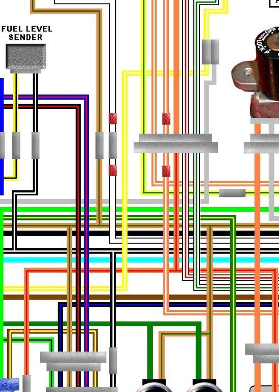 Suzuki GS850G GS1000G 1981 UK Spec Colour Wiring Loom Diagram