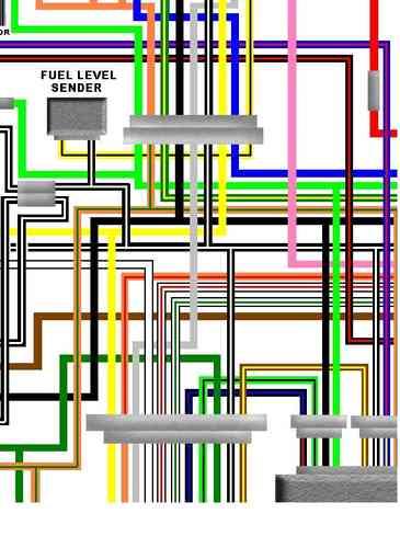 suzuki gs1000 colour motorcycle wiring loom diagrams, Wiring diagram