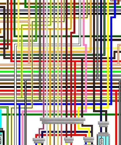 Suzuki Gsx1400 Large Colour Electrical Wiring Loom Diagrams