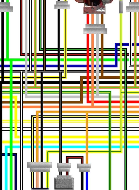 Suzuki RF600 1997 - On UK Spec Colour Electrical Wiring Diagram