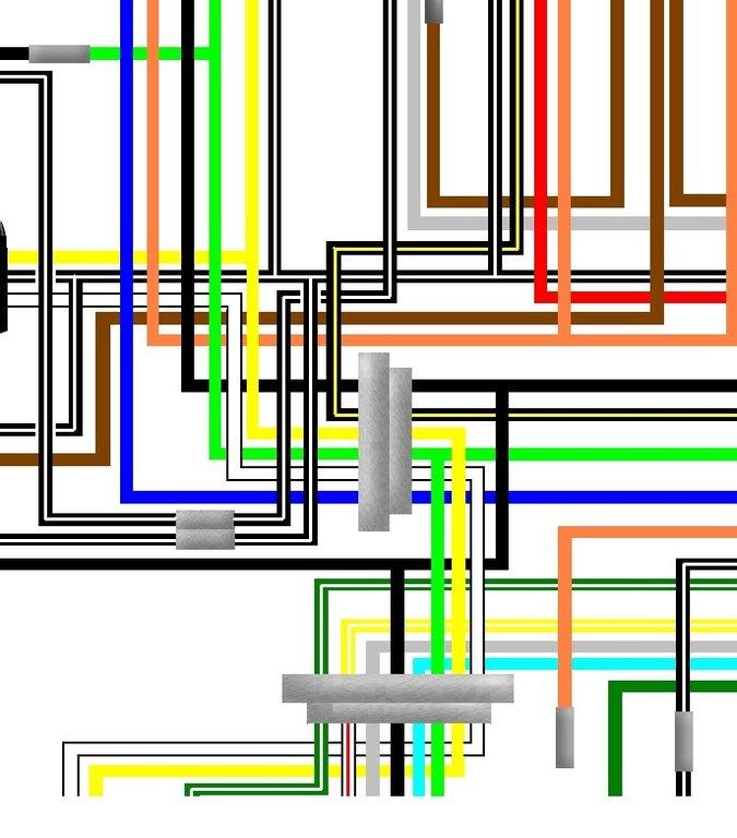 suzuki ts125 n 1979 usa spec a3 colour wiring loom diagram