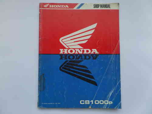 Used Honda CB1000P Factory Manual