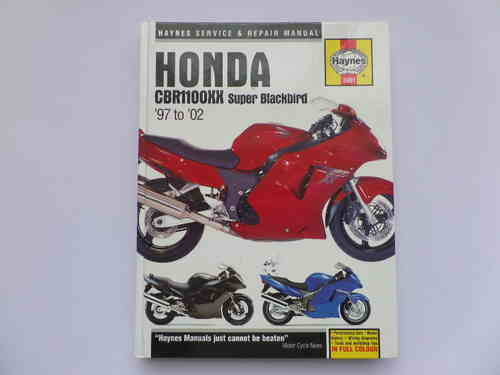 Used Haynes Honda CBR1100XX Blackbird Manual