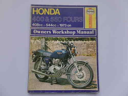 Used Haynes Honda CB400F CB550F Manual