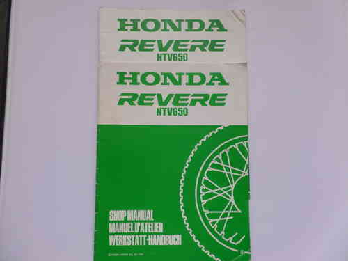 Used Honda NVT650 Revere Factory Manual