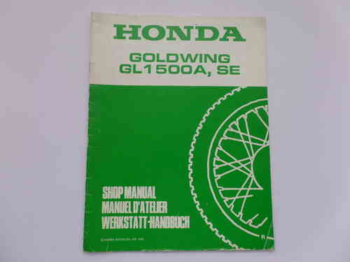 Used Honda GL1500A SE Factory Addendum