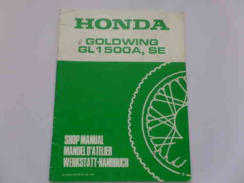 Used Honda GL1500A SE X Factory Addendum