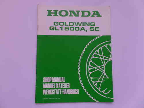 Used Honda GL1500A SE V Factory Addendum