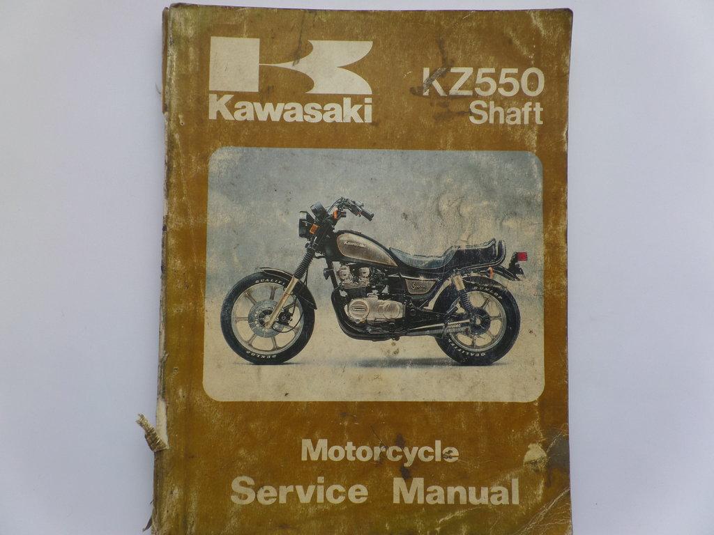 Kawasaki KZ550 Shaft Used Factory Workshop Maintenance Manual ...