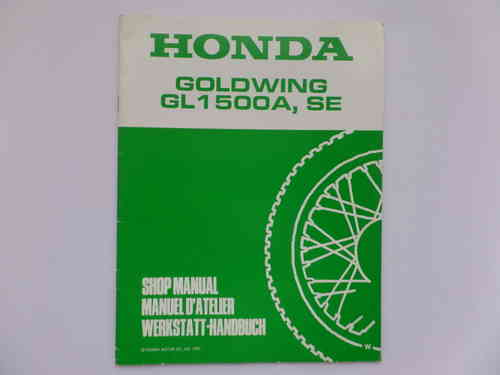 Used Honda GL1500A SE W Factory Addendum