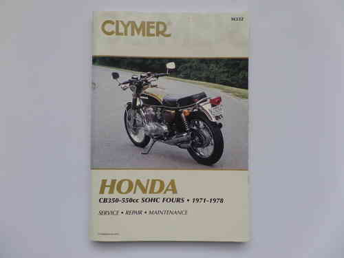 Used Clymer Honda CB350F CB550F Manual