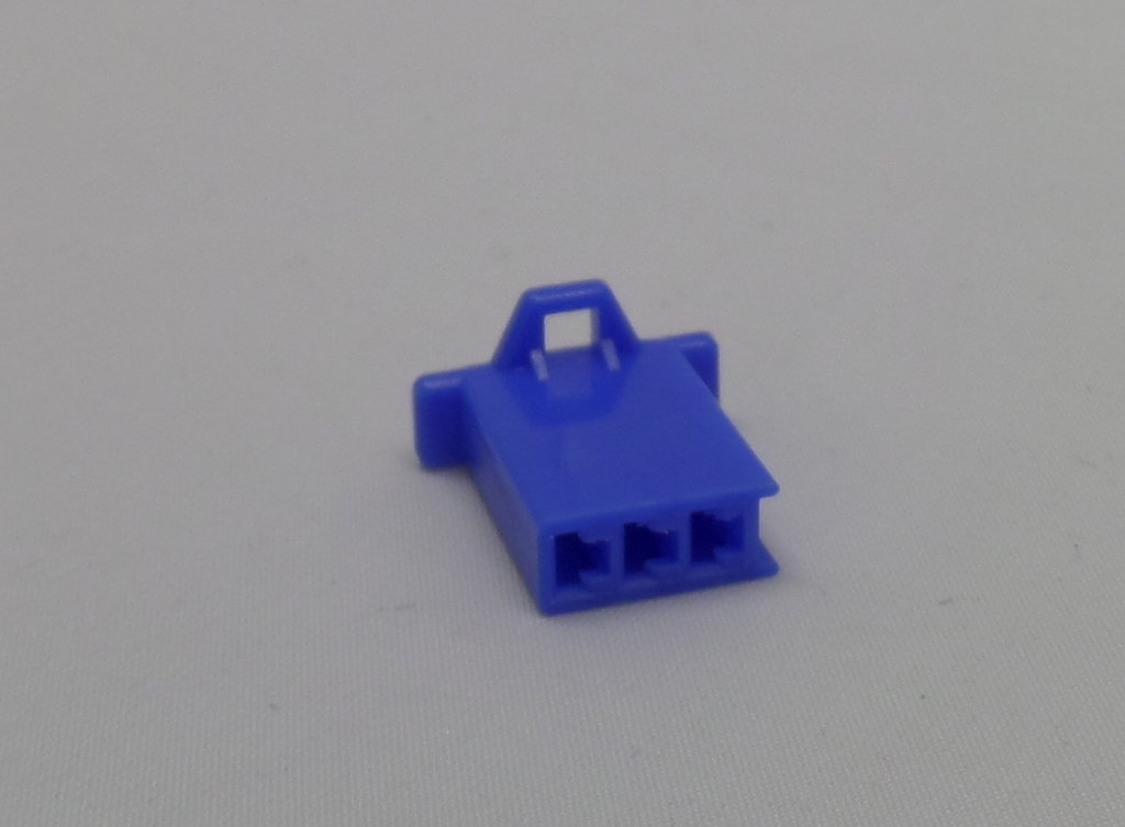 Motorcycle Minilatch Wiring Connector Set 28mm 3 Way Blue