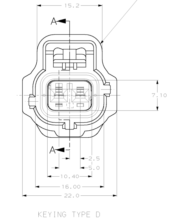 2 way green sealed sensor wiring loom connector key pat  d