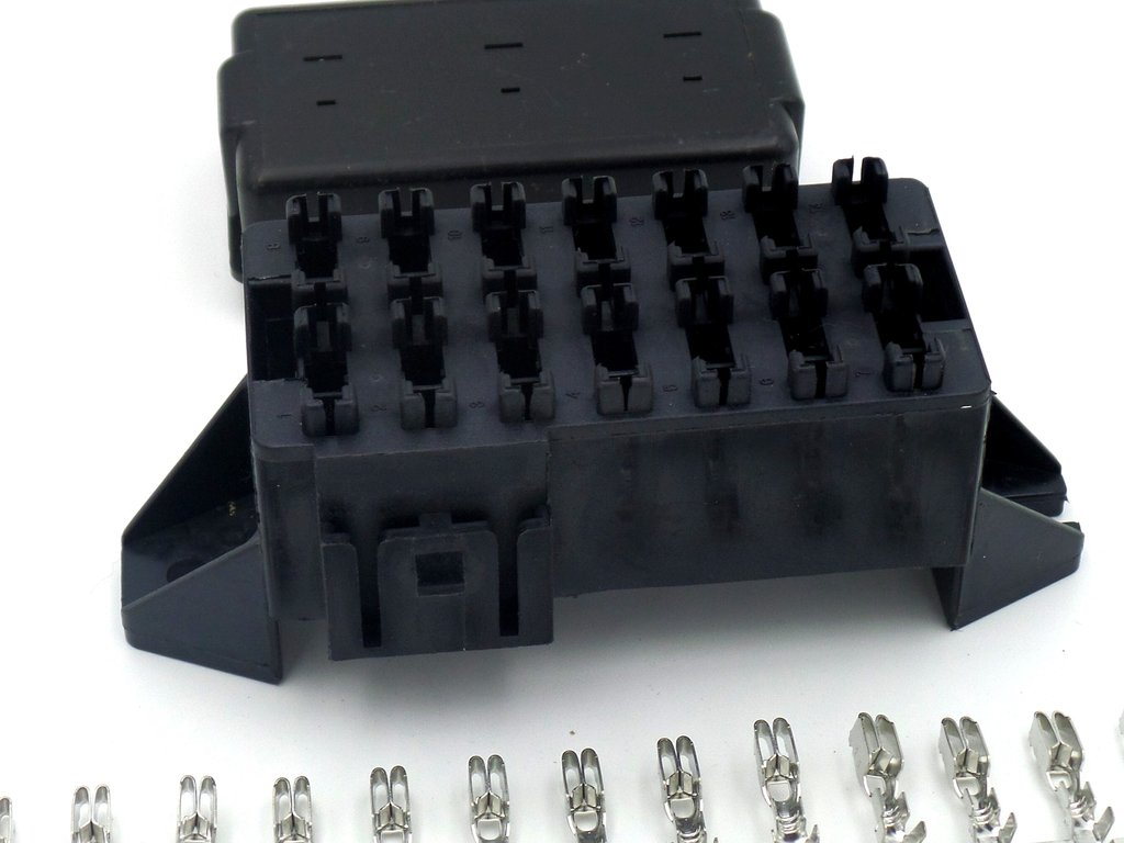 Automotive low voltage v fuse boxes for vehicles and boats