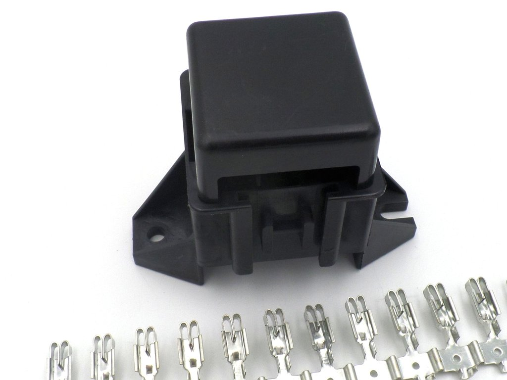 Standard Blade Automotive 6 Way Bottom Entry Fuse Box