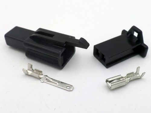 2.8mm 2 Way Black MTW 12v Motorcycle Wiring Loom Connector
