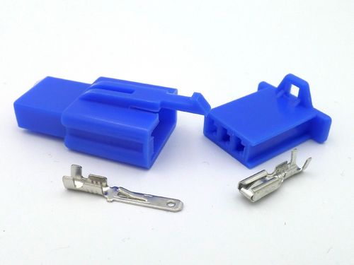 2.8mm 3 Way Blue MTW Motorcycle Wiring Loom Connector