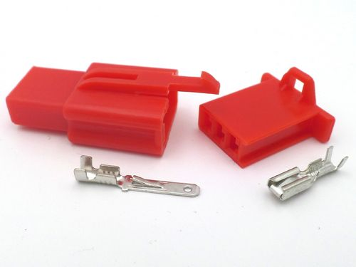2.8mm 3 Way Red MTW Motorcycle Wiring Loom Connector