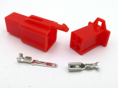 2.8mm 4 Way Red MTW Motorcycle Wiring Loom Connector