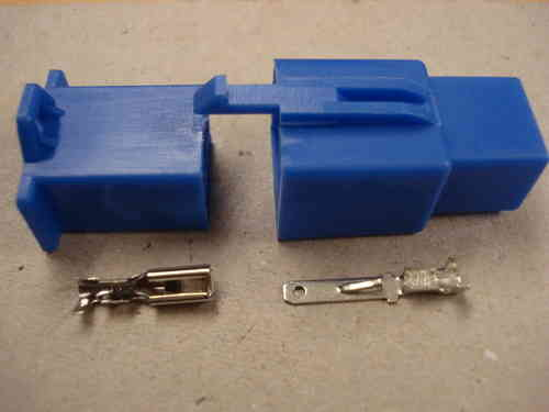 2.8mm 6 Way Blue Mini Latch Motorcycle Harness Connector