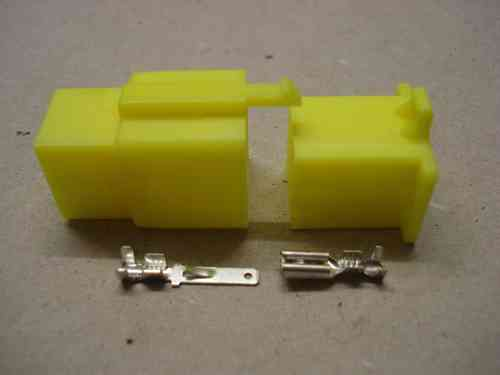 2.8mm 9 Way Yellow Mini Latch Motorcycle Harness Connector