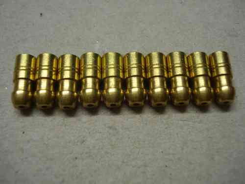 1.0mm 4.7mm Brass Crimp Bullet 10 pack