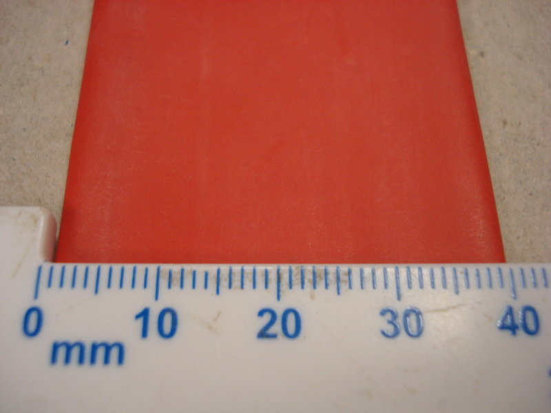 25.4mm Heat Shrink Red 2:1 Polyolefin Sleeving 1m