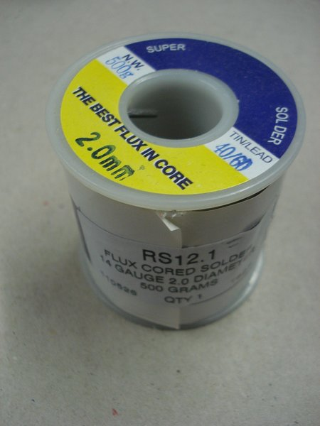 2.0mm Flux Cored Solder 60% Lead 40% Tin